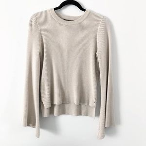 Sweaters - VGUC Ribbed Bell Sleeve Sweater, Beige M